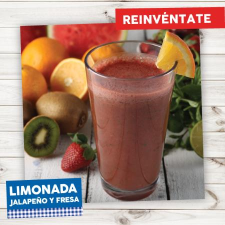 """La Crepe: Deliciosa """"Limonada de Jalapeño y Fresa"""""""