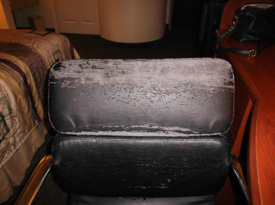 Sleep Inn near Ft. Jackson: Desk Chair in Room - disgusting!