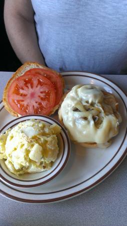 Kay's Family Restaurant: mushroom and swiss chicken burger