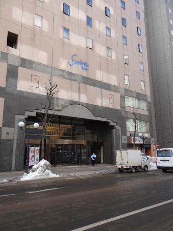 Sapporo Sumire Hotel : Front of Hotel - name high up