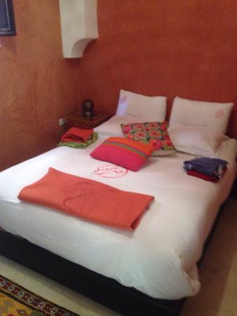 Riad Alnais : Notre chambre au premier étage