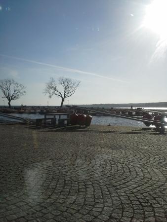 Bryggan: Utsikt över Hjo hamn