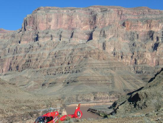 Papillon Grand Canyon Helicopters: The heli, dwarfed by the Grand Canyon.