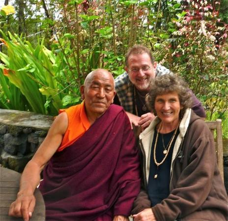 "Wood Valley Temple Retreat & Guest House: With our friend, the resident monk, Venerable Lobzang Toldan ""Tiapala"""