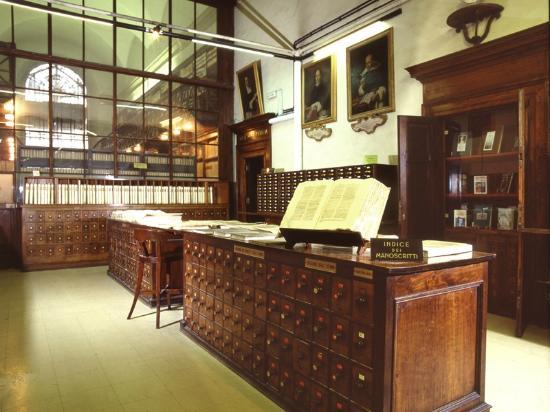 Casanatense Library : la sala cataloghi della biblioteca