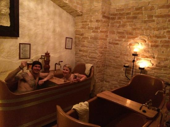 Enjoying The Unlimited Beer Picture Of Prague Beer Spa