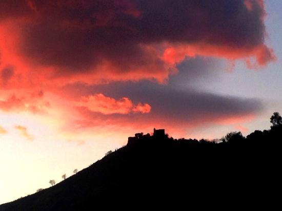 Tramonto all'Eremo di Santa Maria a Castello di Lanzara