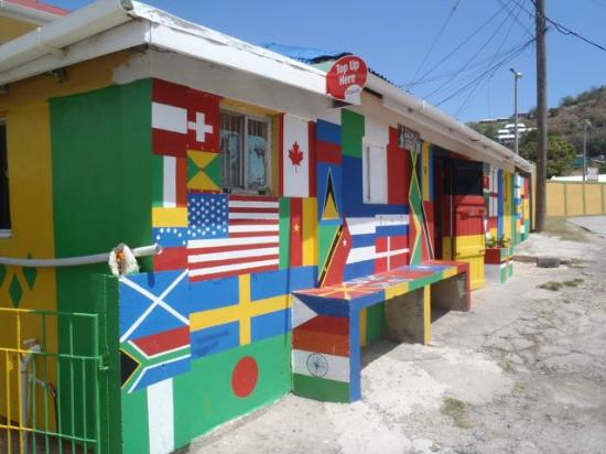 Charlestown, Canouan: A local shop - right by the hotel