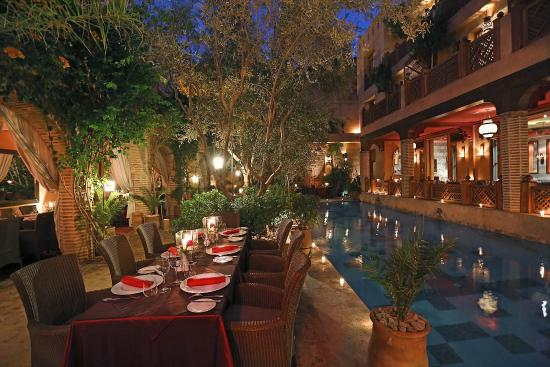 Restaurant 3 saveurs photo de la maison arabe marrakech for A la maison en arabe