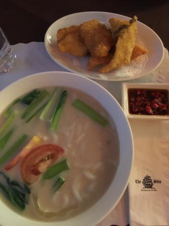 Famous sliced fried fish beehoon soup picture of the for Fish soup near me