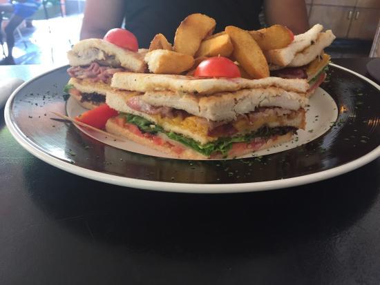 Cafe 41: Chicken club sandwich