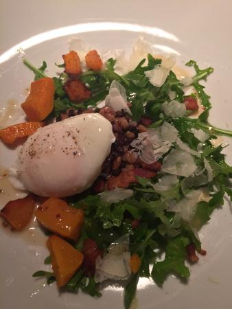 Washington, VA: Poached Egg over Farro & Black Rice w/ Squash