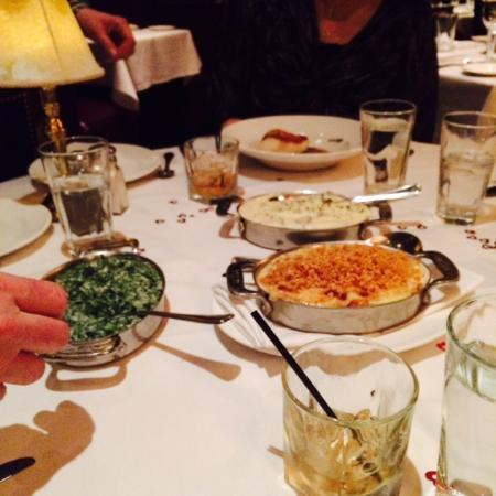 The Capital Grille: Share portions. Mashed were a tad salty.