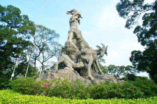 the statue of five rams picture of yuexiu mountain guangzhou