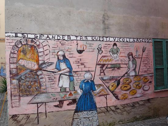 Cepagatti, Italia: historical bread making scene
