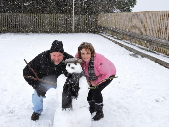 The Belfray Country Inn: First ever snowman at the Belfray!