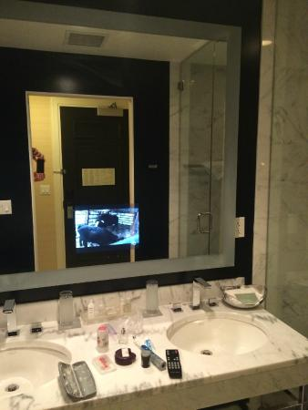 The Blackstone Autograph Collection Embedded Tv Into Mirror
