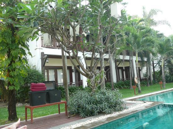 Green Park Boutique Hotel: les chambres donnant sur la piscine