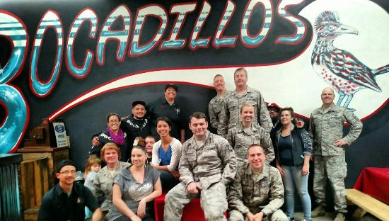 Slow Roasted Bocadillos New Mexico: These military folks liked the food.