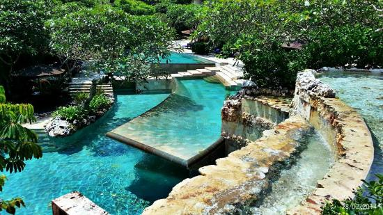 Ayana Resort And Spa Bali Double Tiered River Pool Next To Dava