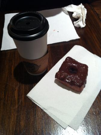 North Lime Coffee and Donuts : We loved the chocolate and obj donuts, but the winner was the NYN donut!