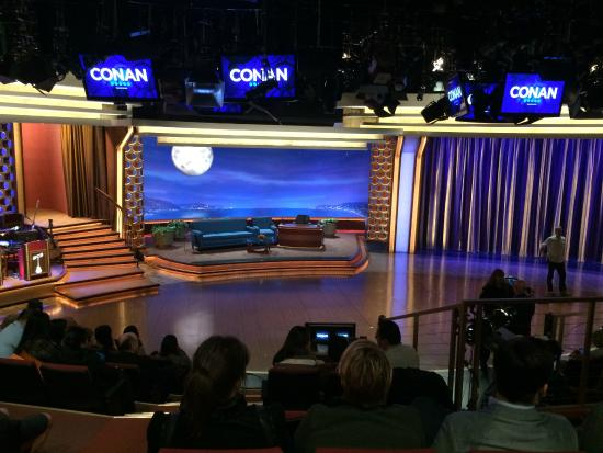 Burbank, CA: A better shot of the Conan set.