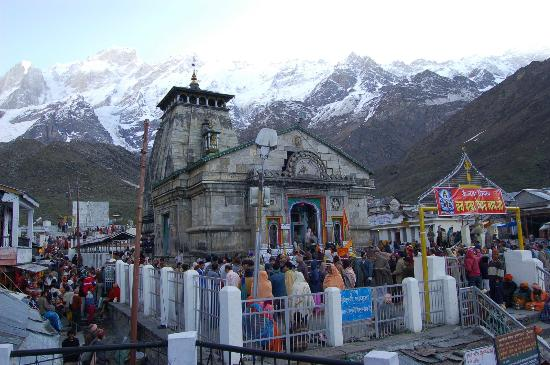 Kedarnath Temple as part of ISHA Himalayan Trip - Kedarnath