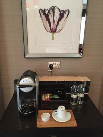 The Levin: Great coffee service with real mile in the fridge
