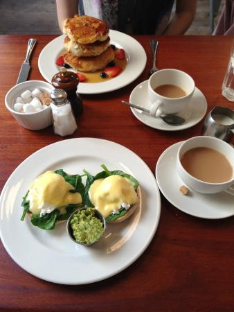 Wild Cafe: Eggs Florentine and Fruit Pancakes