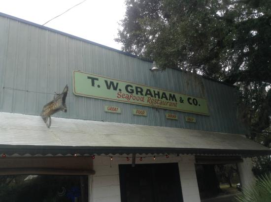 T.W. Graham & Company Seafood Restaurant: The front in case you miss it! ;)