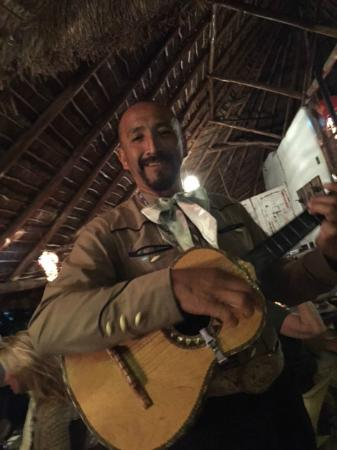Que Onda: The mariachis worked the crowd and all had a good time