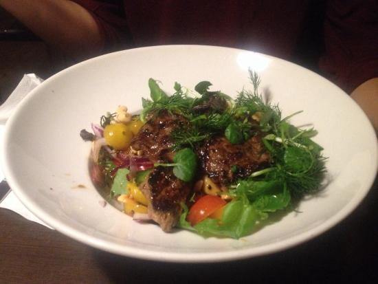 Vejle, Dania: Salad with thaibeef