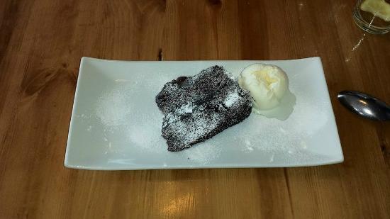 The Tullie Inn: Chocolate Fudge Cake server with Ice Cream.