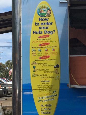 HULA DOG Hale'iwa: Ordering your dog...