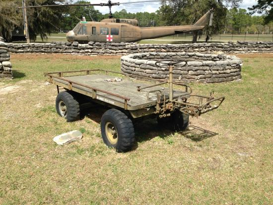 Camp Blanding Museum and Memorial Park: U.S. M-274 Mechanical Mule 1/2 ton 4-wheel drive utility platform; 1956-1983