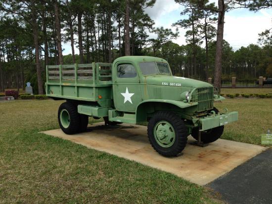 Camp Blanding Museum and Memorial Park: U.S. Chevrolet 1 1/2 ton 4-wheel drive cargo truck; 1940-1945.
