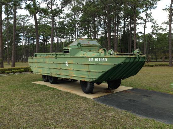 Camp Blanding Museum and Memorial Park: U.S. GMC 2 1/2 ton amphibious 6-wheel drive amphibious truck (DUKW); 1942-1945.