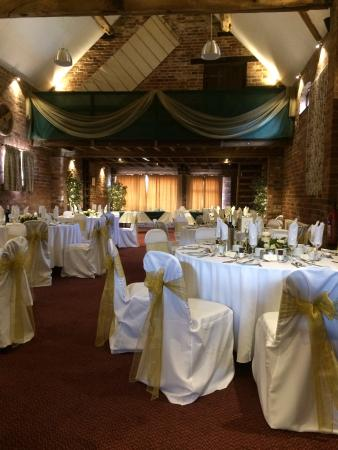Wishaw, UK: Looking up the main room at a wedding layout