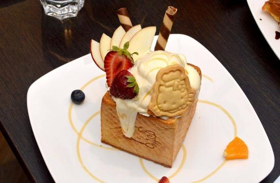 best dessert original honey toast picture of hello kitty