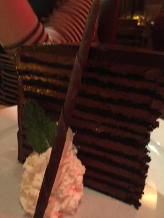 23 layer chocolate cake Picture of Michael Jordans Steakhouse