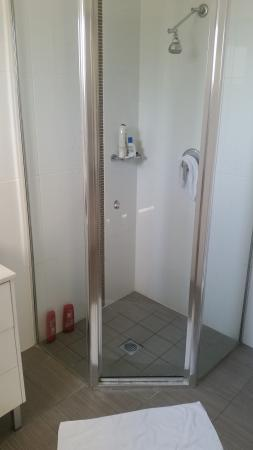 Redvue Luxury Apartments: small shower
