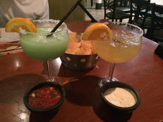House Frozen Margarita and House on the Rocks , The white sauce you won't have anywhere else!! y