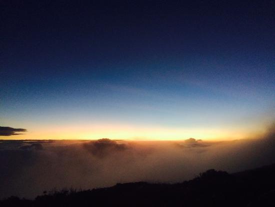 Mount Halcon: Sunrise from summit