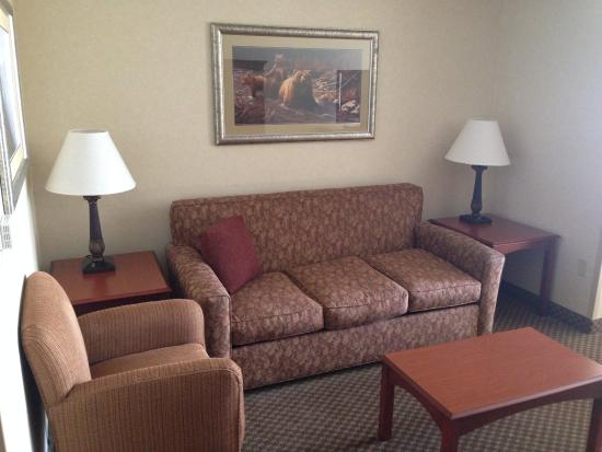 Holiday Inn Express Hotel & Suites Fairbanks: sofa