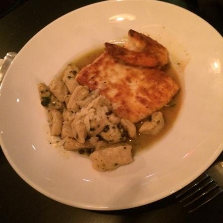 One Thirty One East: halibut, shrimp with gnocchi