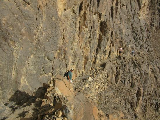 Al Wahbah crater: This is on the way down past what I call the doorway. it gets steep.
