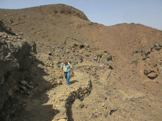 Al Wahbah crater: This is a view near the top on our way out.