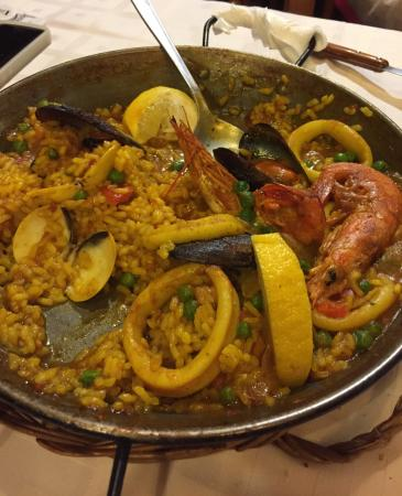 Paella!!! Soooo GOOD!! We really enjoy our dinner. Great place, great people