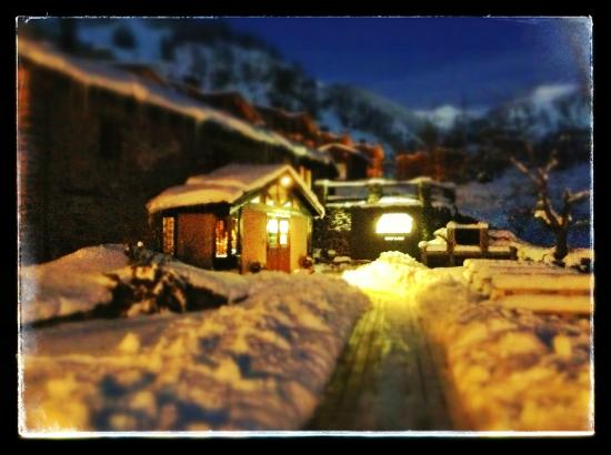 Mountain Hostel Tarter in winter