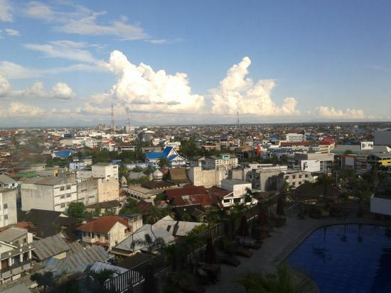 mercure banjarmasin view of city from the room